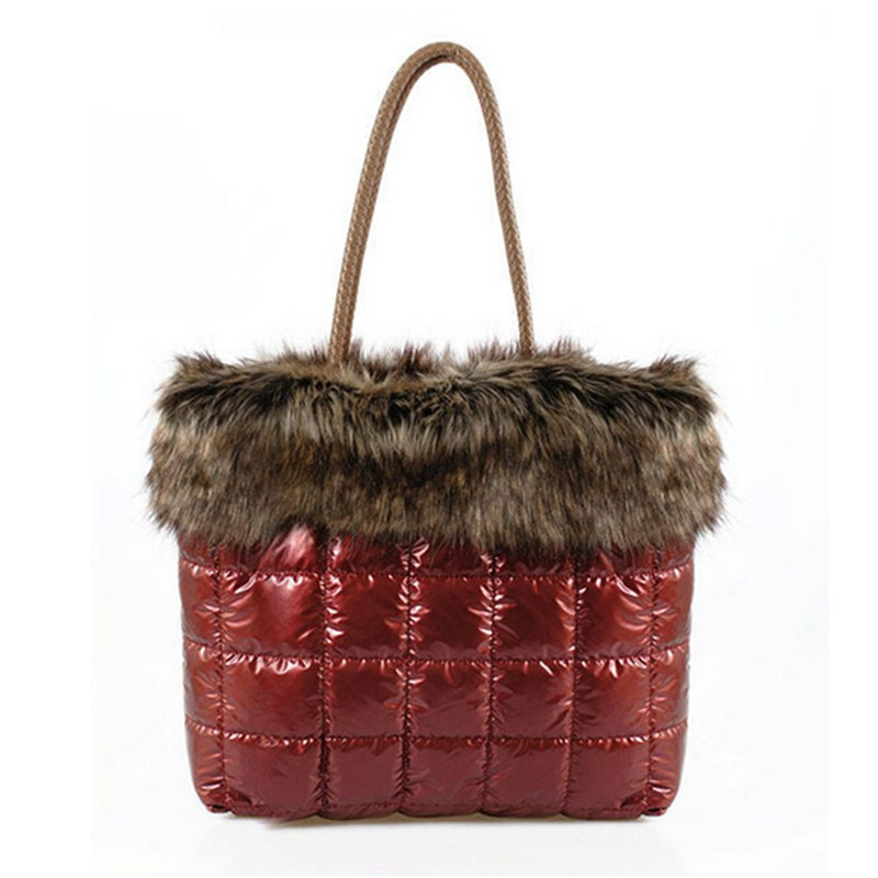 BARHEE Winter Faux Fur Warm Women Shoulder Bag Large ...