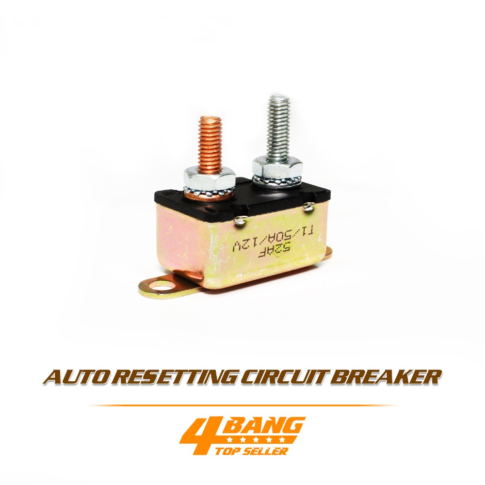 2x Circuit Breaker Dual Battery Caravan Boat Fridge 50 Amp 50a Auto Reset Fuse On Aliexpress Com