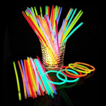 Glow Stick Necklace Glow in the Dark Neon Sticks Party Fluorescent Bracelets Christmas Party Supplies LX4971