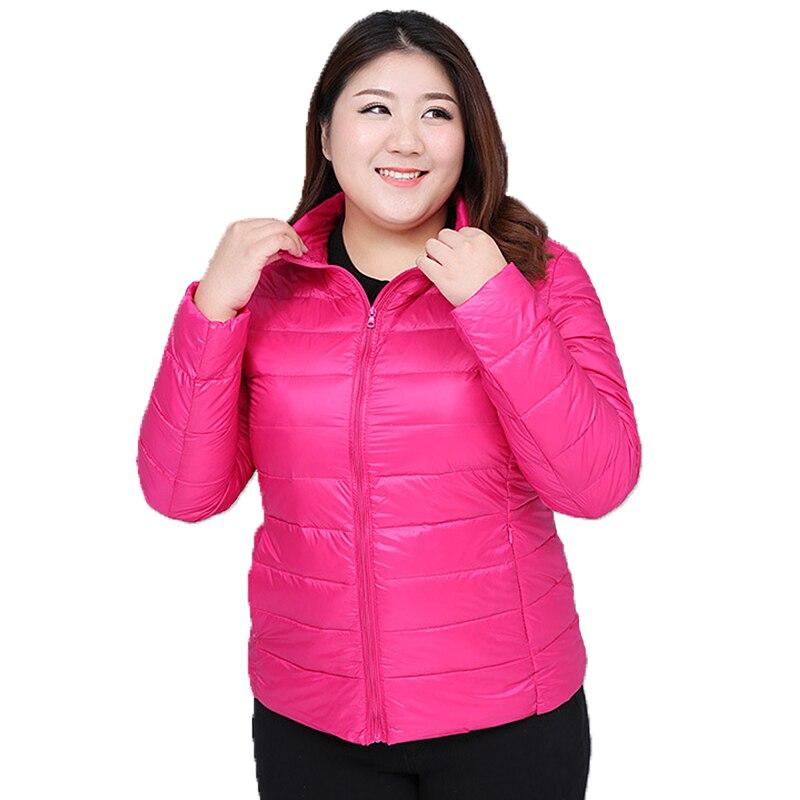 2018 Large size womens clothing autumn winter new white duck   down   jacket women's slim fashion Korean   down     coat   plus size XL-7XL