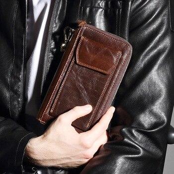 Handy Geldbörse | 2018 Neue Luxus Designer Brieftasche Echte Kuh Echtes Leder Herren Brieftaschen Für Kreditkarte Halter Kupplung Armband Taschen Münze Geldbörse