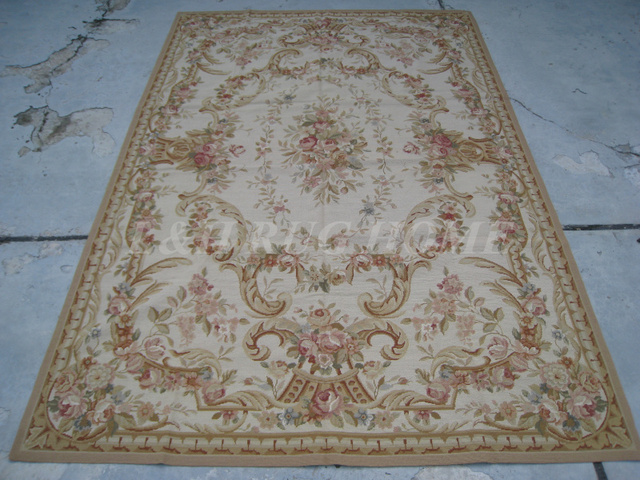 Free shipping 5.5'X8' needlepoint woolen rugs,100% handmade New Zealand wool carpets