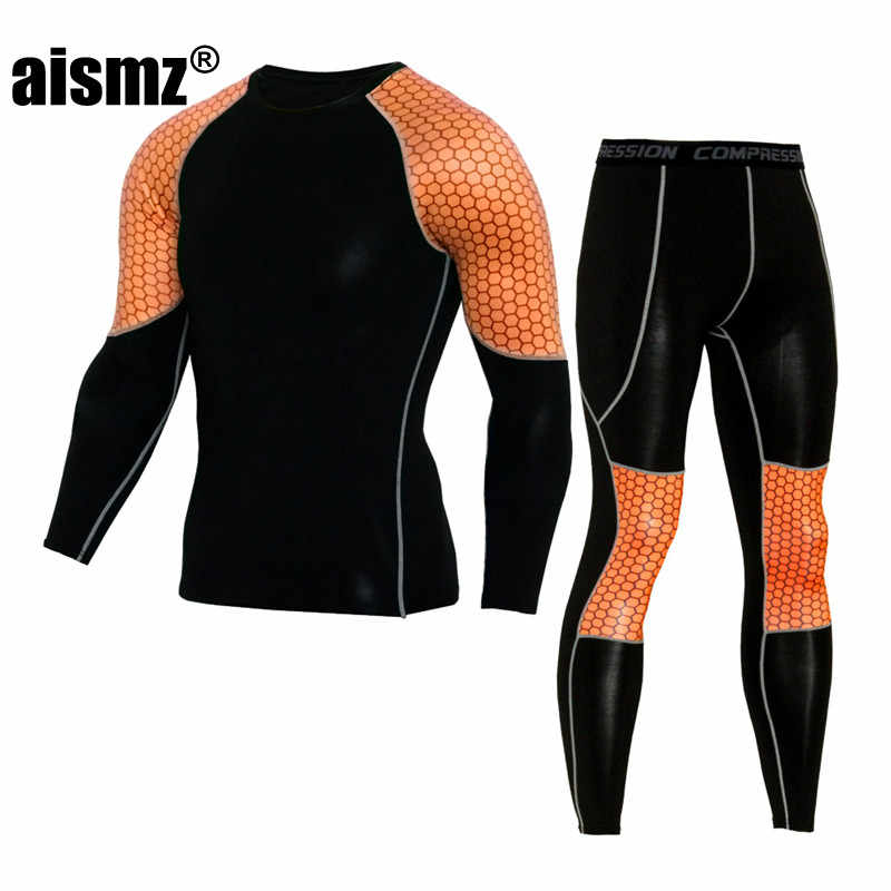 Aismz The Latest Brand Clothing Quality In Thermal Underwear Long Johns Quick Drying Thermo Underwear Men Clothing
