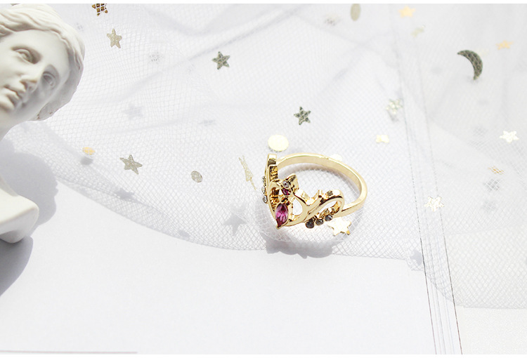 Dream Stone Heart Shape Ring Alloy Gothic Long Player Ring Fans Gift Collection Drop Ship
