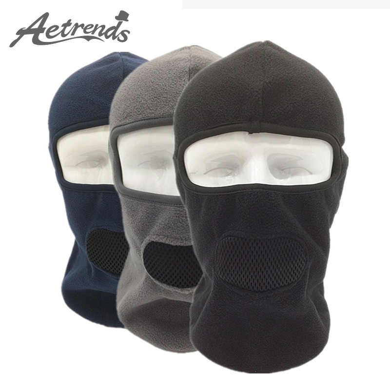 [AETRENDS] Winter Fleece Balaclava Breathable with Mash Mouth Full Face Mask Cycling Masks Hoods Hats Z-3981A