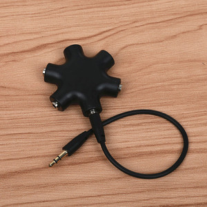 Image 4 - QQQRGB 3.5mm אודיו Aux כבל ספליטר 1 זכר 5 נקבה אוזניות יציאת 3.5 שקע לשתף מתאם עבור Tablet MP3 MP4 נייד טלפון