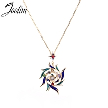 Joolim Jewelry Wholesale Stylish Colorful  Emael Pendant Necklace On Trend
