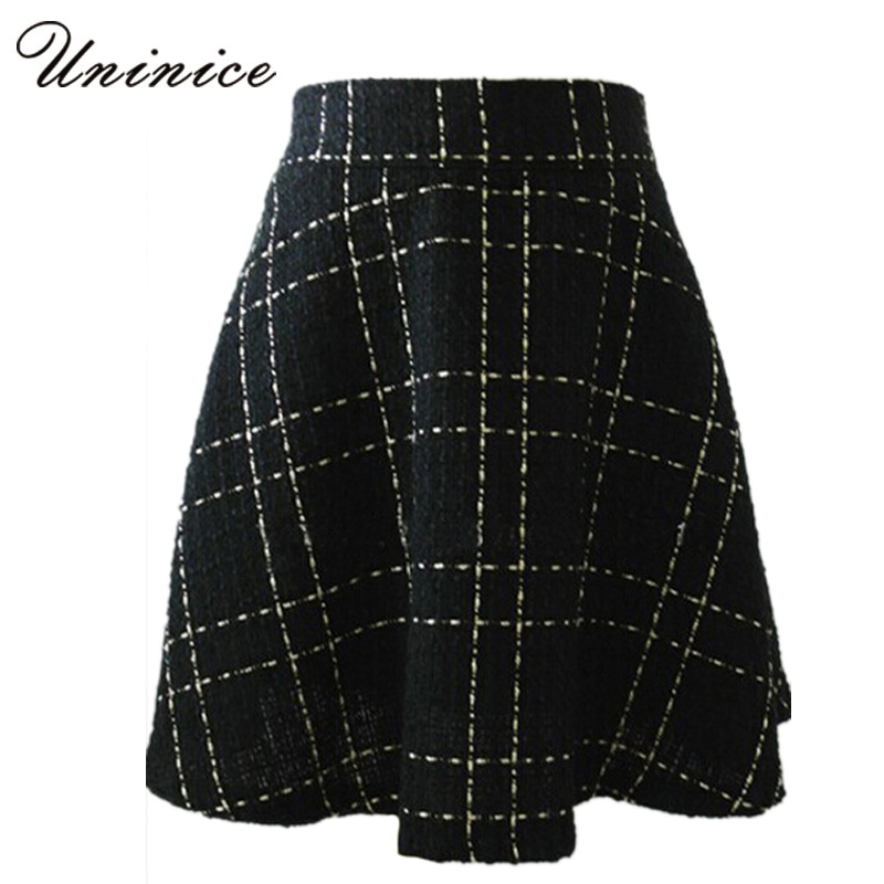 Popular Black Plaid Skirt-Buy Cheap Black Plaid Skirt lots from ...
