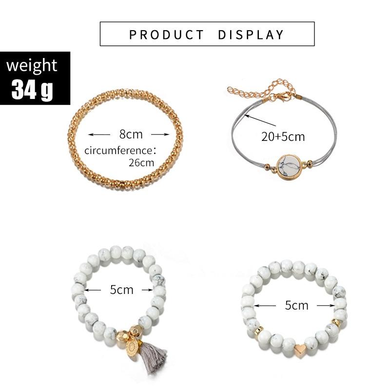 30 Styles Mix Turtle Heart Pearl Wave LOVE Crystal Marble Charm Bracelets for Women Boho Tassel Bracelet Jewelry Wholesale 2