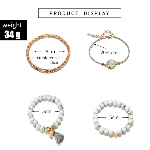 30 Styles Mix Turtle Heart Pearl Wave LOVE Crystal Marble Charm Bracelets for Women Boho Tassel Bracelet Jewelry Wholesale 2