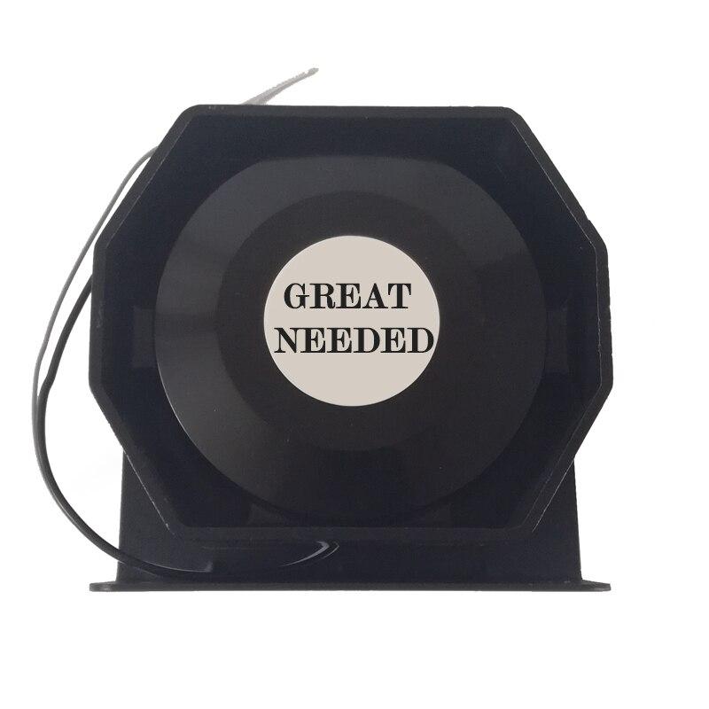 Sirène d'alarme de voiture en acier inoxydable 200 W 12 V haut-parleur klaxon automatique sirène de Police mégaphone klaxon électronique Buzzer coque noire