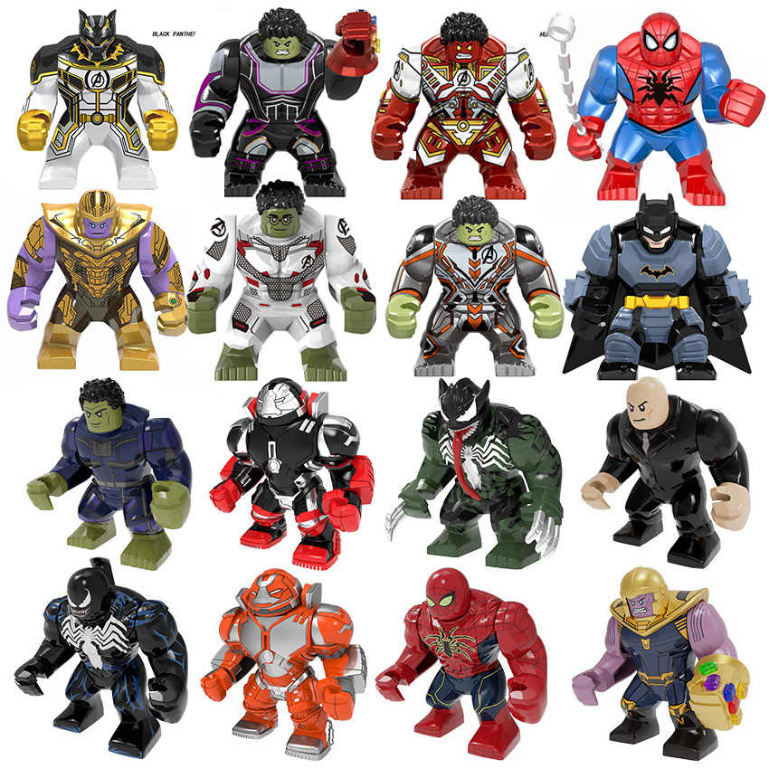 Marvel Avengers Endgame Super Heroes Hulk Thanos Armor Batman Big Size Figures Building Blocks Toys For children Gifts