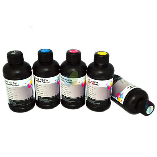 5x250ml B/C/M/Y/White LED UV INK For UV-Flatbed Printer for Epson UV Printing Machine Curable Ink for Epson Printer 10x1000ml led uv ink for epson flatbed uv printer ink for epson dx5 dx7 print on all hard material