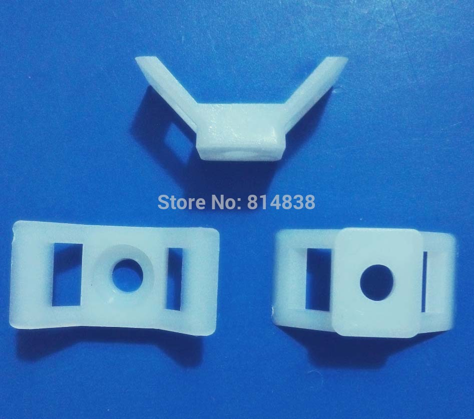 HC 4 White Saddle Type Tie Mount For 10mm Plastic Cable Tie