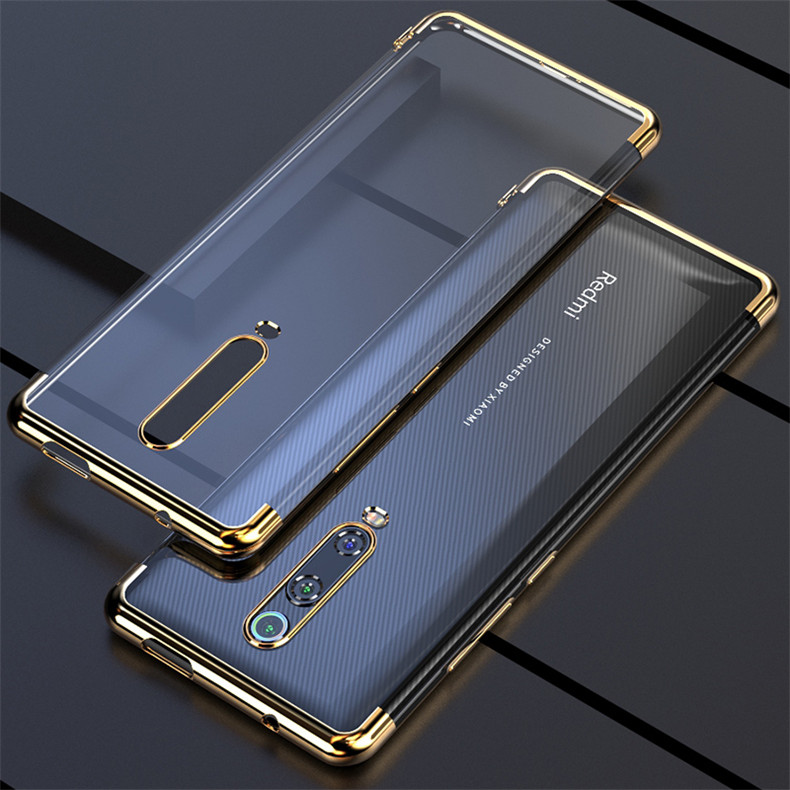 For Xiaomi Redmi K20 Pro Case Soft TPU Slim plating transparent Protective Back cover case For xiaomi mi 9t pro redmiK20 mi9t image