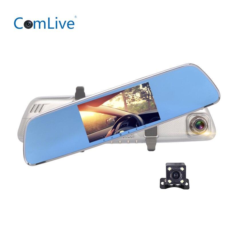 Camlive V26 5 IPS FHD1080P dual cams rearview mirror car DVR ADAS night vision dash cam car video recorder