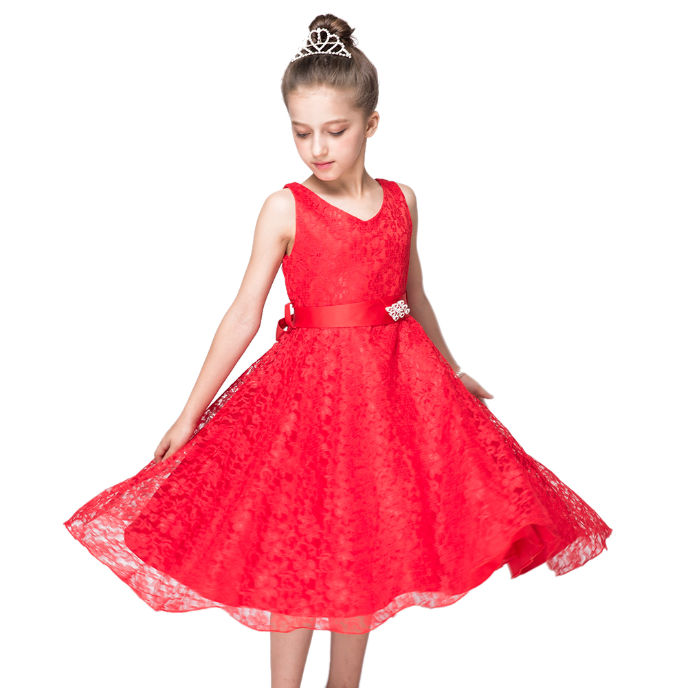 New Year Dresses for Girls Clothing Flower Party Evening Dress Little Ladies Clothes Children Girl Costume for 3 to 12 Years