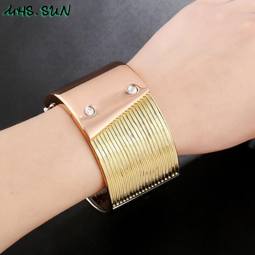 17-2Exaggerated Womern Fashion Big Bangle Bracelets Assorted Color European Female Trendy Bangle Jewelry Accessories Gift