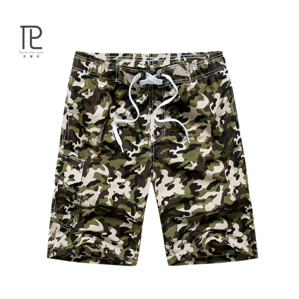 ec55634ebf Quick Dry Men Shorts Casual Beach Short Homme Bermuda Summer Loose Men's  Board Short Camouflage Mens Short Gogger Shorts#B0