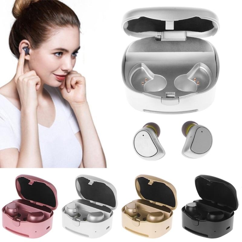 OOTDTY In-Ear Earbud Mini TWS Earbuds Wireless Bluetooth 4.1 Earphone Waterproof Sports Headset With Mic original senfer dt2 ie800 dynamic with 2ba hybrid drive in ear earphone ceramic hifi earphone earbuds with mmcx interface