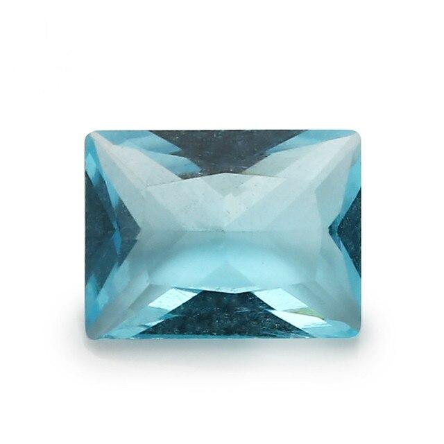 Фото размер 2x3 ~ 13x18 мм прямоугольный стеклянный камень белый цена