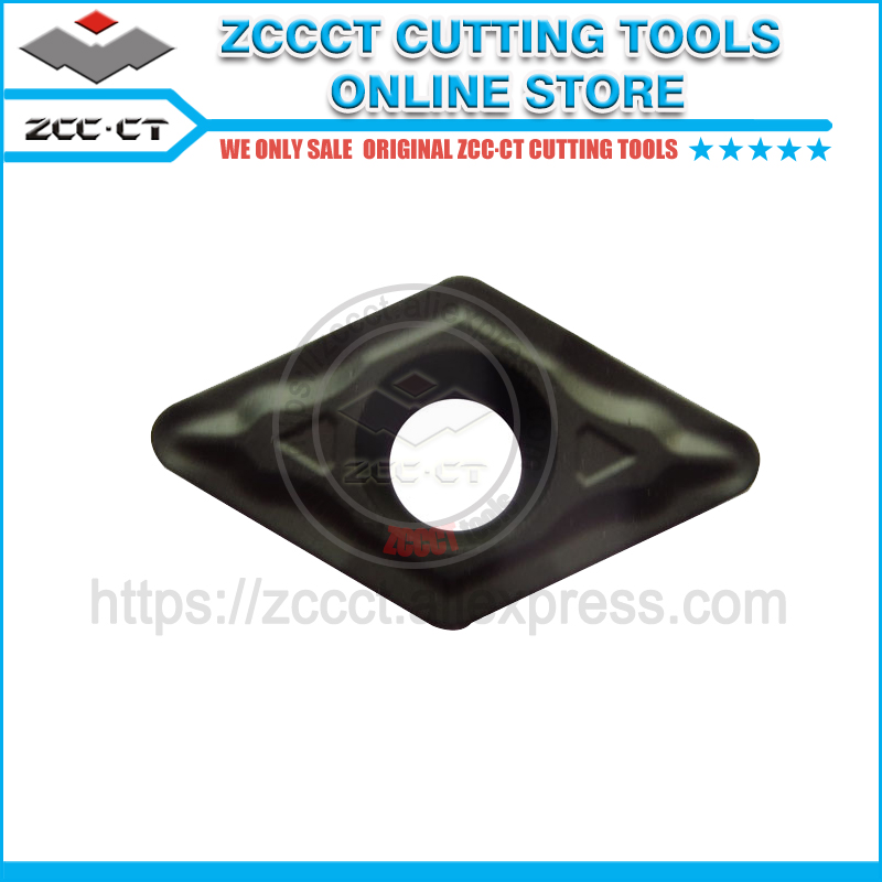 10pcs ZCC carbide turning tool DCMT070208 HM YBC252 for external turning and internal cut of steel