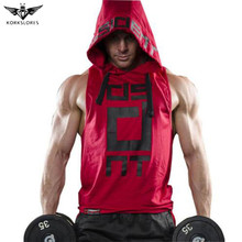 2017 Mens summer sleeveless Hoodies fitness fashion Casual jacket Hooded Sweatshirts Bodybuilding Brand sportswear vest clothing(China)