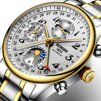 Switzerland BINGER watches men luxury brand Multiple functions Moon Phase sapphire Calendar Mechanical Wristwatches B 603 83