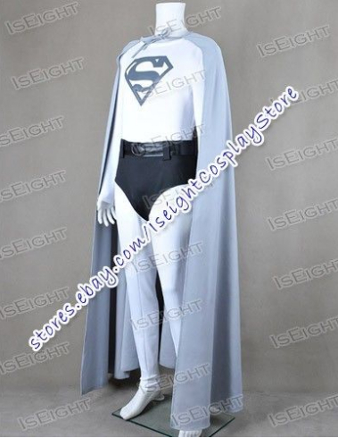 Новое поступление Супермен Кларк Кент Комбинезон Костюм Серая накидка Косплэй костюм костюмы на Хэллоуин