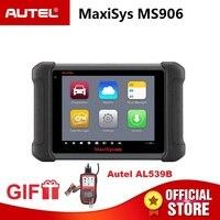 Autel MaxiSys MS906 OBD2 автомобильный диагностический сканер MS 906 программирование ключей код читателя OEM инструменты ключ кодирования подарок AL539B