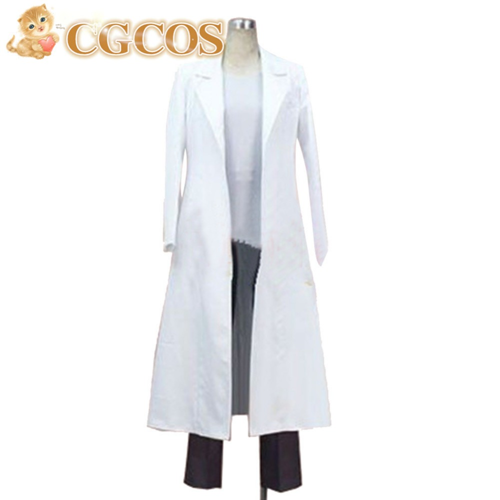 CGCOS Free Shipping Cosplay Costume Steins Gate Okabe Rintarou New in Stock Retail/Wholesale Halloween Christmas Party Uniform