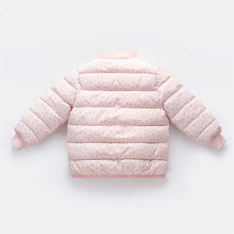 אופנה חמוד חורף ילדים ווסטים תינוק בני בנות מעיל למטה בגדי מעיל מתוק סוכריות בצבע להאריך ימים יותר