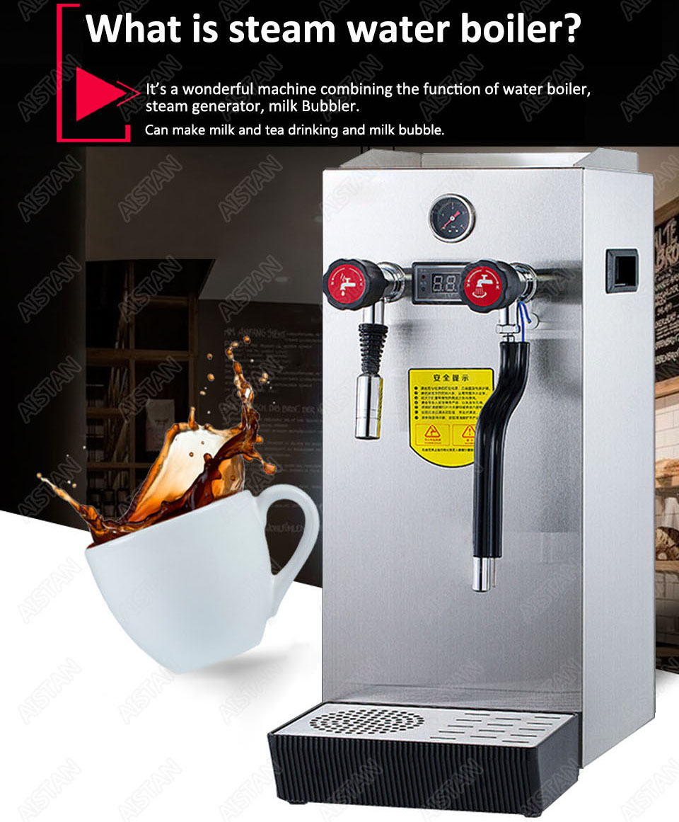 RC800 Commercial stainless steel Water Boiling Machine electric multifunctional steam water boiler for bar 220V 3
