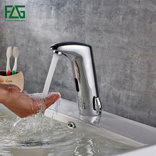 FLG датчик кран для ванной комнаты автоматический ручной сенсорный водосберегающий Индуктивный Электрический водопроводный кран батарея мощность смесители для раковины 684-11C