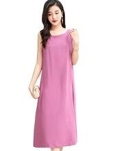 купить Summer women dress casual o-neck solid Women Beach Dress A-Line plus size dress vestidos недорого