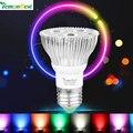 Lemonbest 10 w par20 e27 lâmpada led rgb stage lâmpada luz 16 cores controle remoto do flash strobe ac 85-265 v