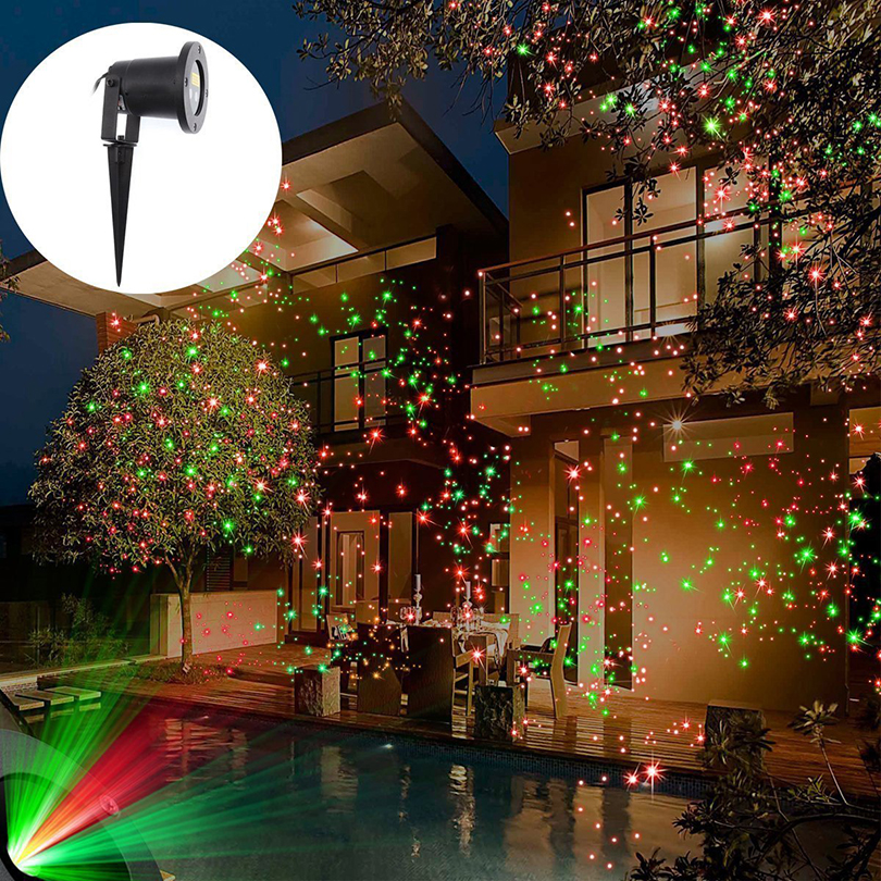 IP68 étanche en plein air étoile Laser projecteur lampe Double trou haute éclairage pour jardin parc maison noël paysage décoration