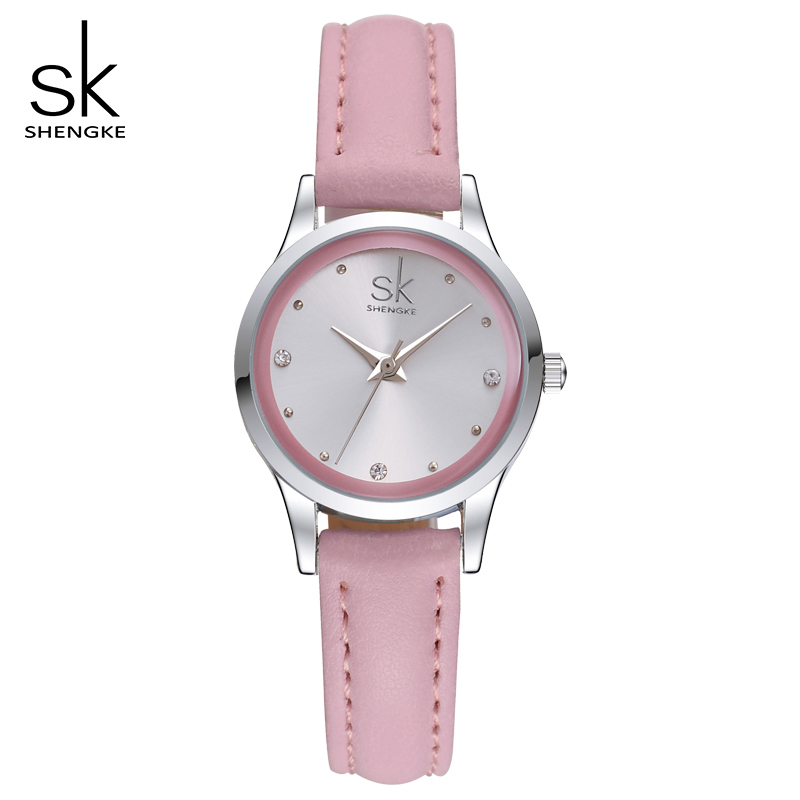 SK Brand  Fashion Ladies Watches Elegant Rhinestone Female Quartz Watch Women Thin Leather Strap Waterproof Montre Femme S0008 купить