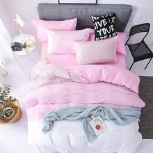 Bedding Set Adult Kids Soft Cotton Bed Linen Single Full Queen King Size Quilt Comforter Duvet Cover Bedspreads 24(China)