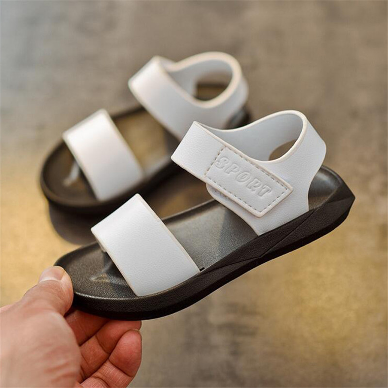 boy beach shoes black and white shoe wholesale 2018 summer new childrens sandal sandals For Boys 1-6 years old simple 21-25