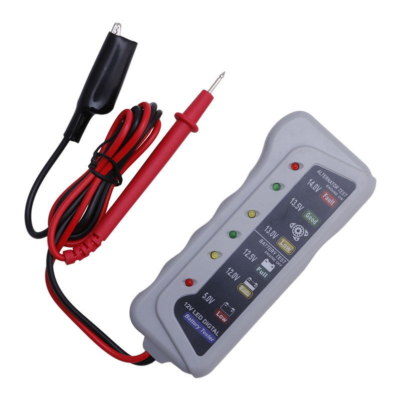 New Sell 12V 6 LED Display Battery Tester Car Batter / Alternator Monitor Device