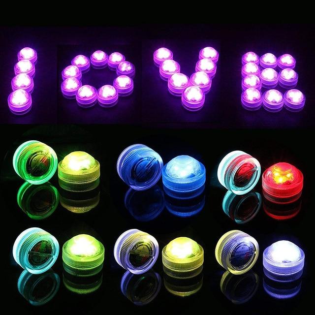 Xsky RGB Submersible LED lumière sous-marine lampe de nuit à piles lumières de thé pour Vase bols fête mariage vacances décoration