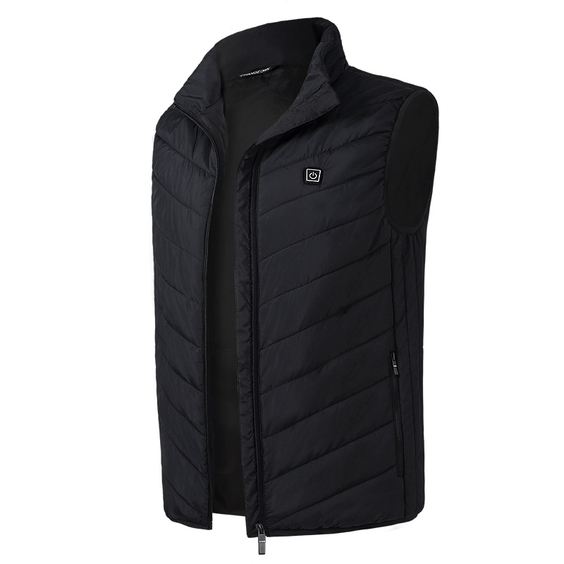 Mens Heated USB Sleeveless Jacket Vest Full Zipper Outdoor Heated Coats Temperature Control Safety ClothingMens Heated USB Sleeveless Jacket Vest Full Zipper Outdoor Heated Coats Temperature Control Safety Clothing