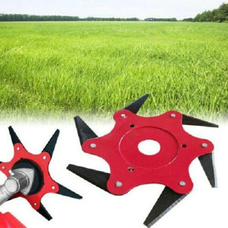 Купить с кэшбэком 6 Steel Blades Razor 65Mn Lawn Mower Grass Eater Trimmer Head Brush Cutter Tools