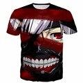 Classic Anime de Tokio Ghoul camisetas Harajuku tee camisa de Los Hombres mujeres Hipster Streetwear 3D camiseta Kaneki Impresión camisetas de las camisetas tops