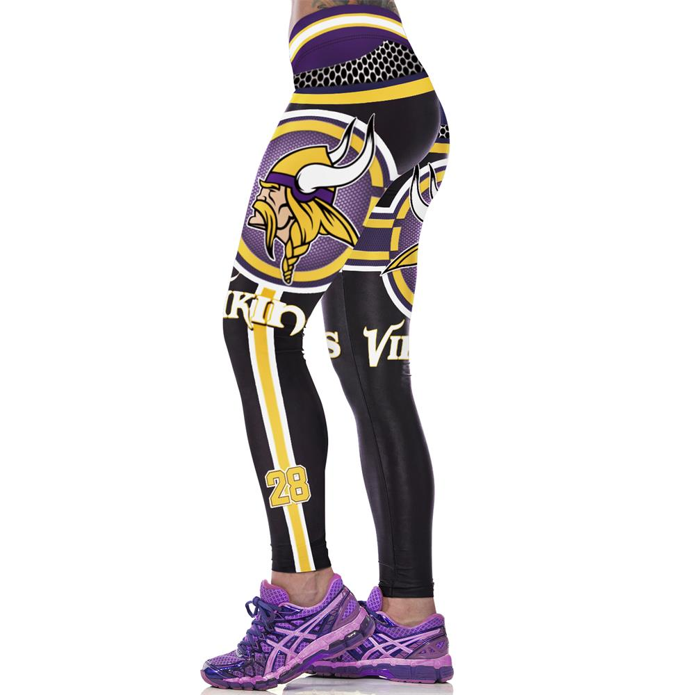 f93619fbadd5c Adventure Time 3D Printed Women Fitness Legging American Footballs NFL  Minnesota Vikings Gymnasium Workout Leggings Leggins-in Leggings from  Women's ...