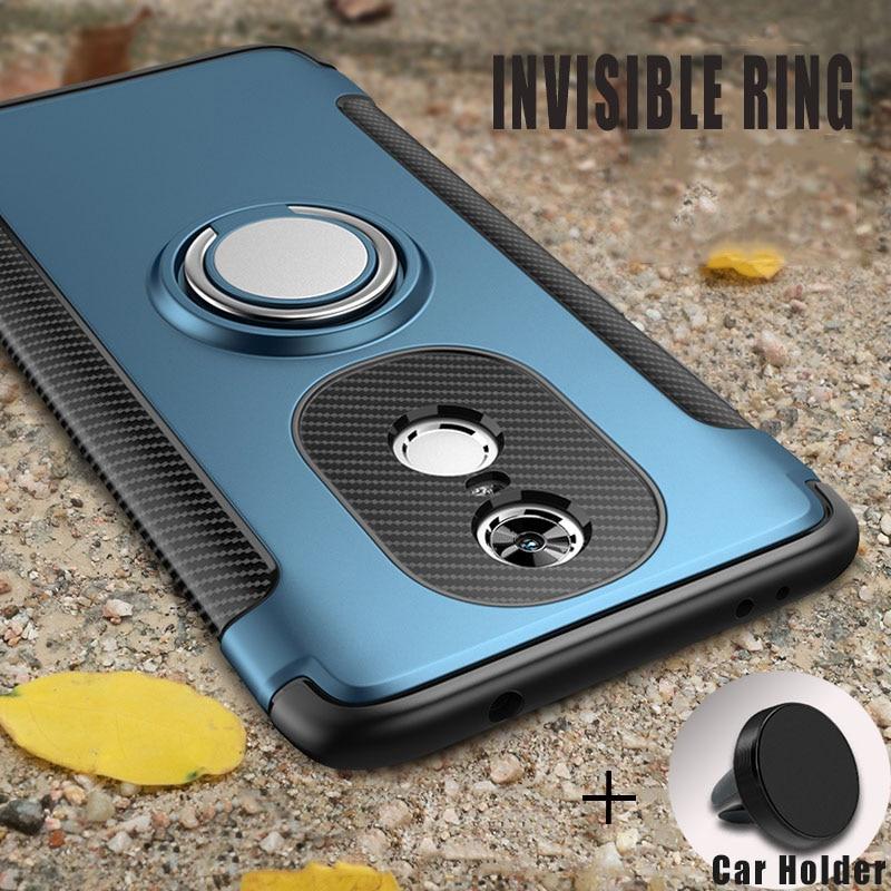new arrival 528ae be9e4 Cases For Xiaomi Redmi 5 Plus With Car Holder Silicon TPU+PC Back Cover  Accessories Case On Pocophone F1 Mi 8 Redmi 5 Note 5 Pro