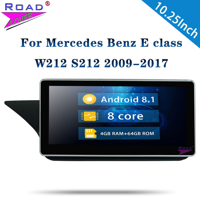 <font><b>Android</b></font> 8.1 Car Radio For Mercedes <font><b>Benz</b></font> E Class <font><b>W212</b></font> S212 2009-2017 Stereo 10.25''1 Din 4G+64G Car Autoradio For Left Hand Drive image