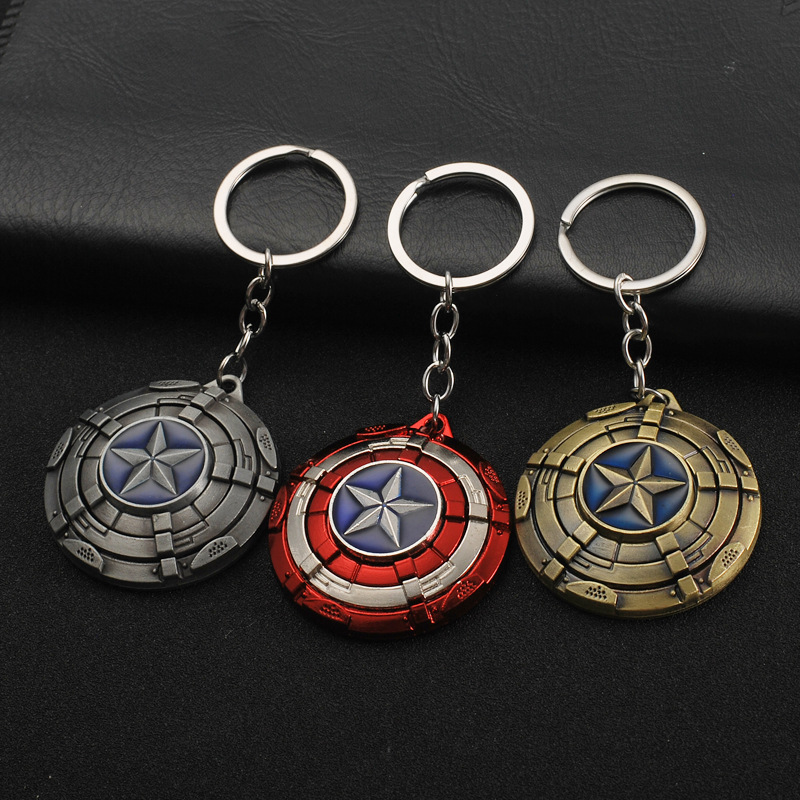 2018 Sale Yuri On Ice Bunny Keychain The New Rotary Captain America's Shield Car Key Metal Chain Pendant Avengers Alliance