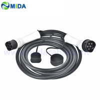 5M 16A/32A Type 2 Mennekes EV Charging Cable Type 2 to Type 2 Female to Male Connector IEC62196 Type 2 EV Charger Plug EV Car